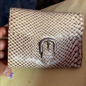Ralph Lauren snake skin print leather wallet